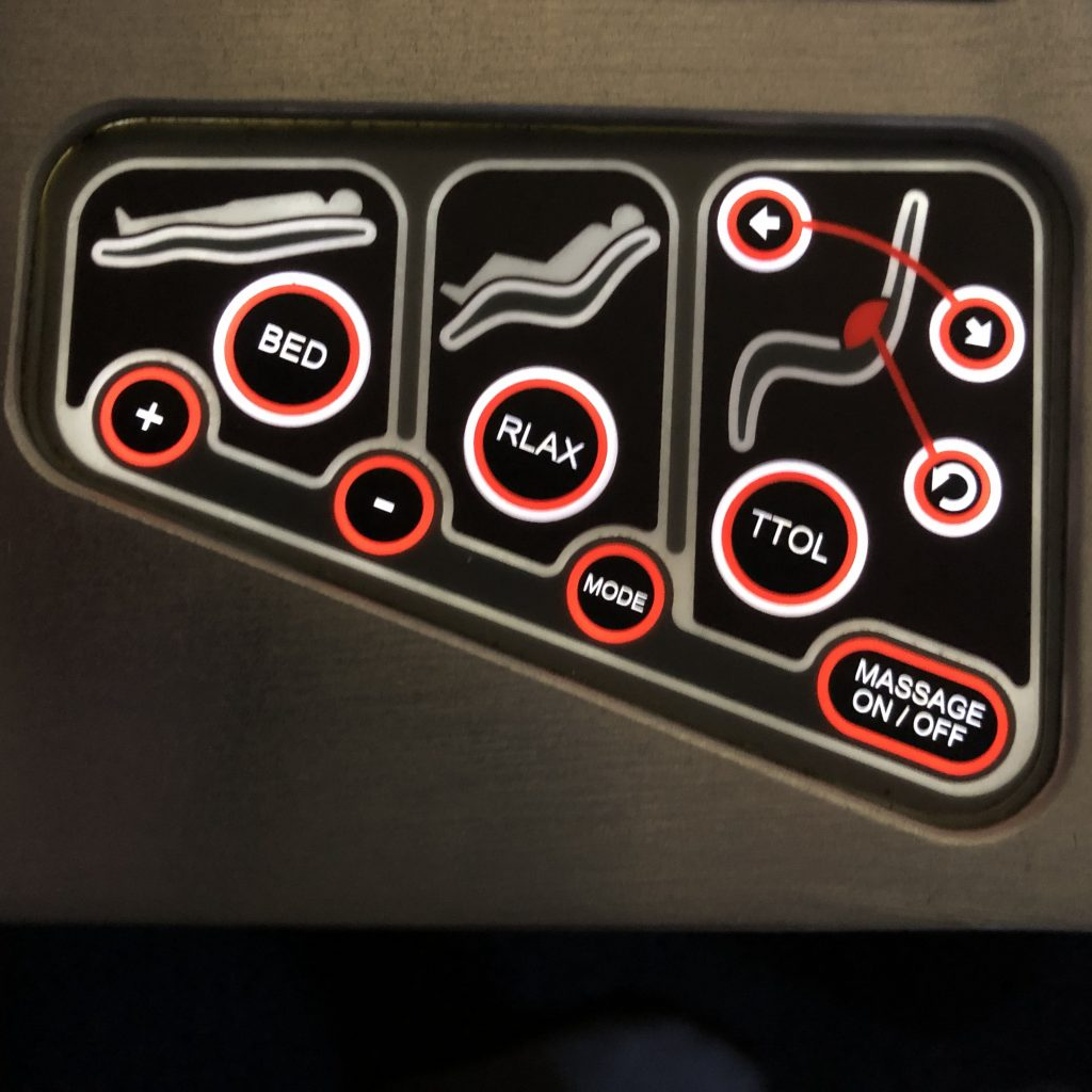 Sri Lankan Airlines seat controls