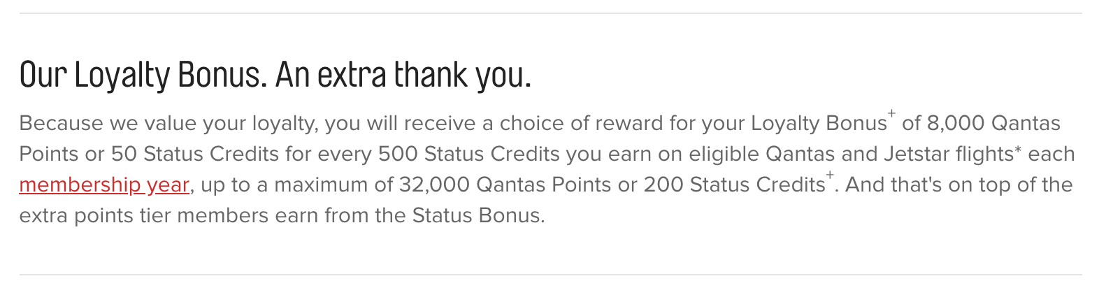 Qantas Loyalty Bonus